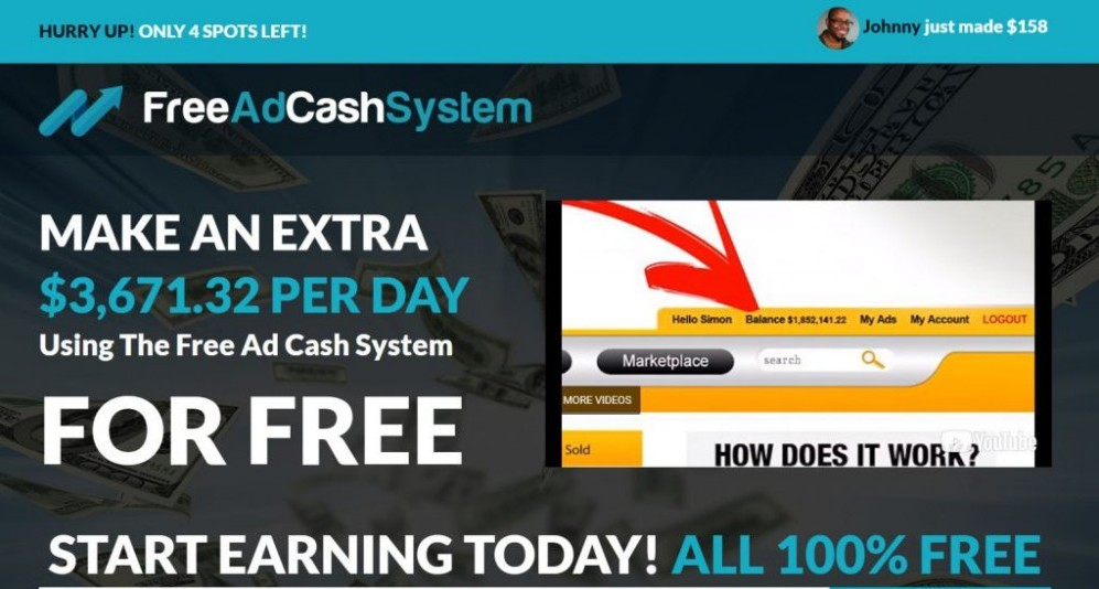 Free Ad Cash System: The Scoop Or Big Scam